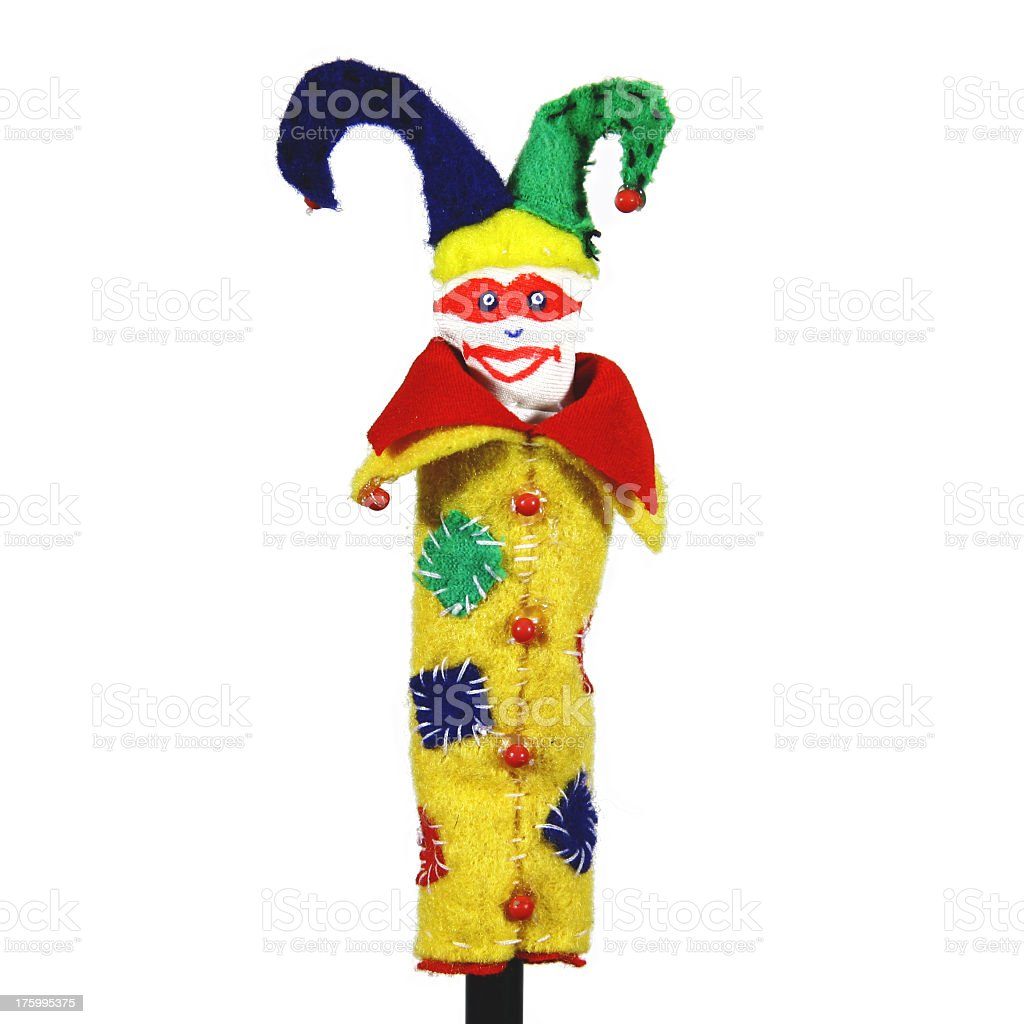 Finger Puppet - Jester royalty-free stock photo
