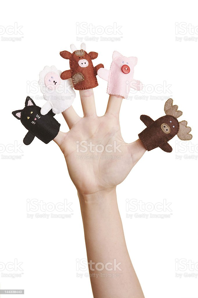 finger puppets royalty-free stock photo