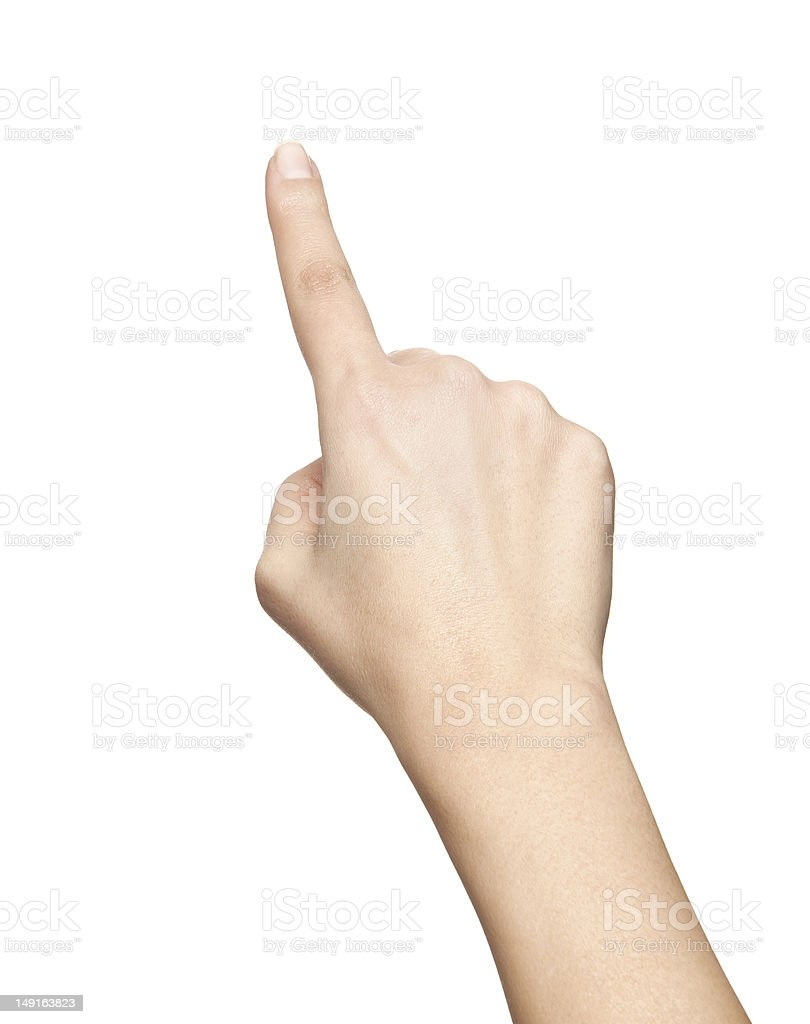 finger push gesture royalty-free stock photo