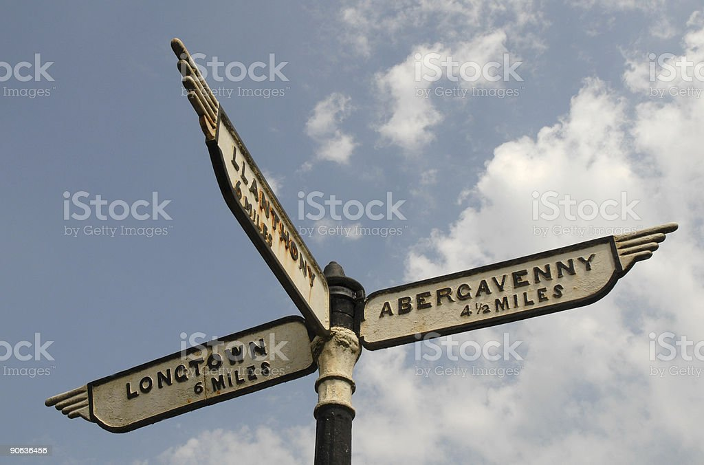 Finger Signpost, Named royalty-free stock photo