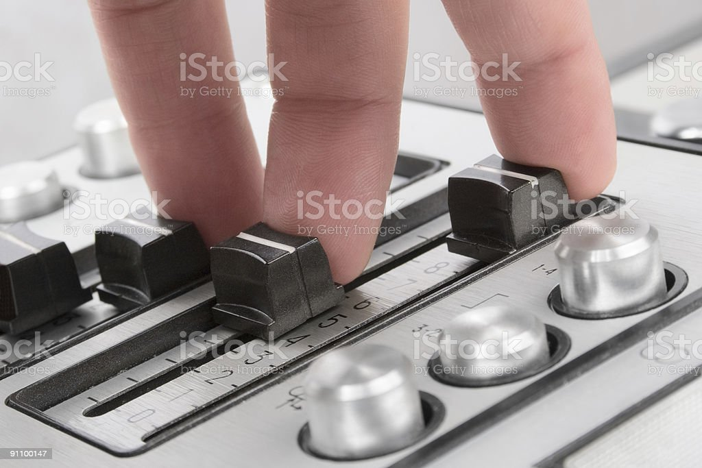 Finger sound control royalty-free stock photo