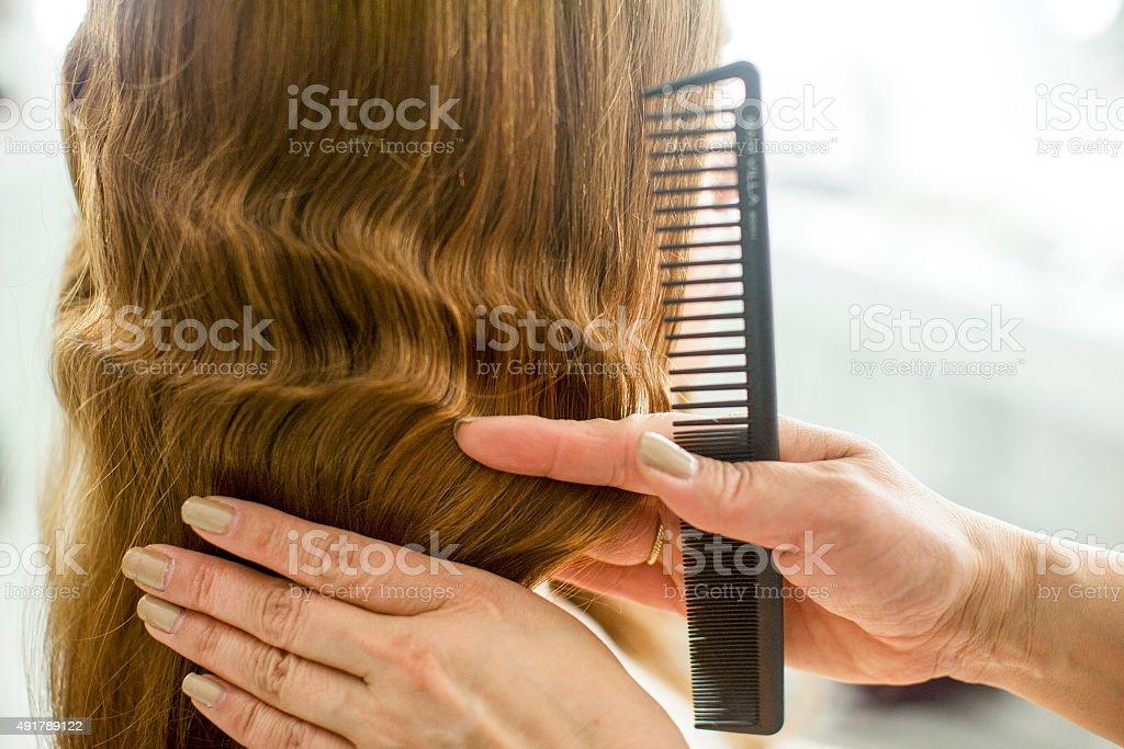 Finger wave stock photo