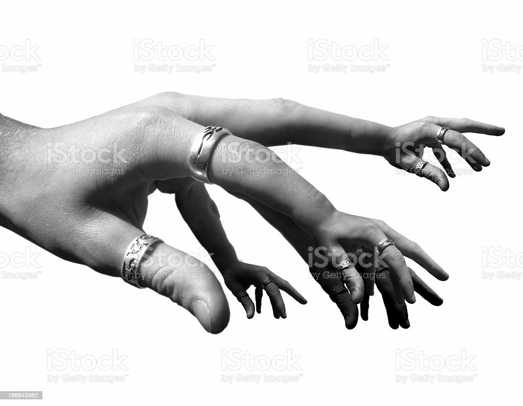 fingered royalty-free stock photo
