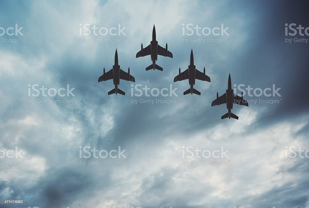 Finger-Four Flying Formation stock photo