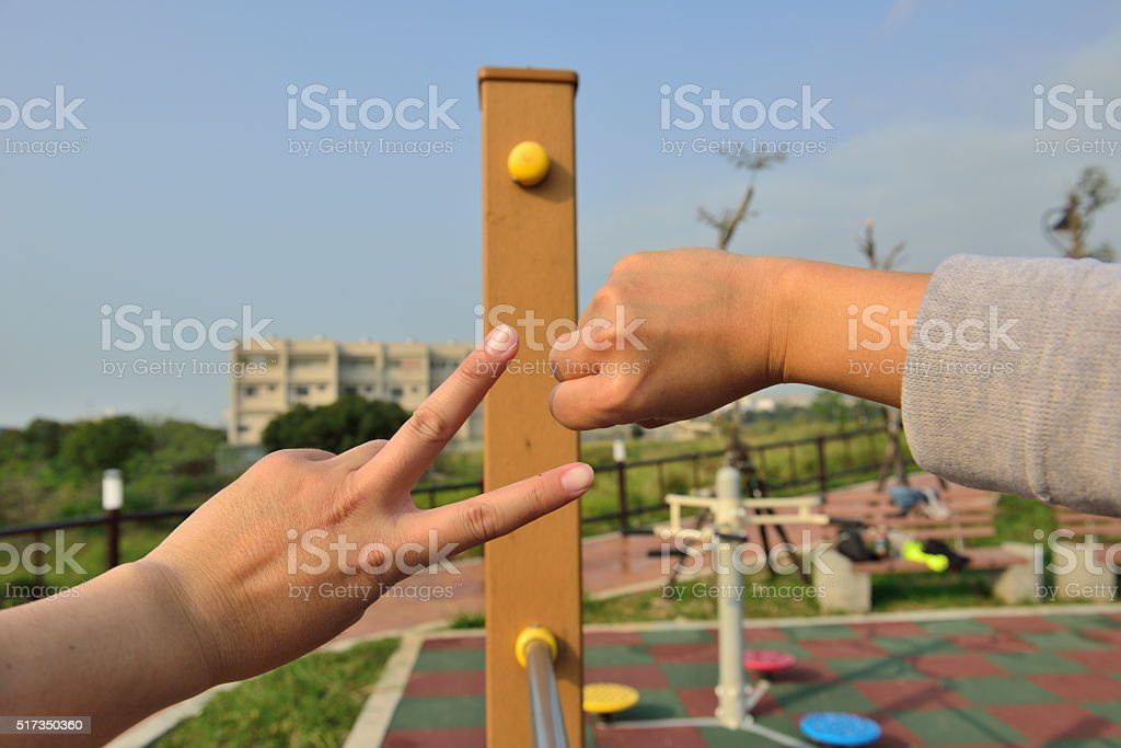 finger-guessing game stock photo