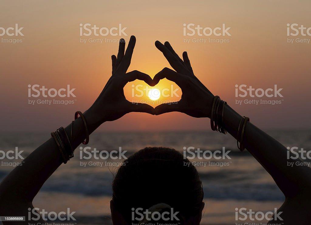 fingerheart royalty-free stock photo