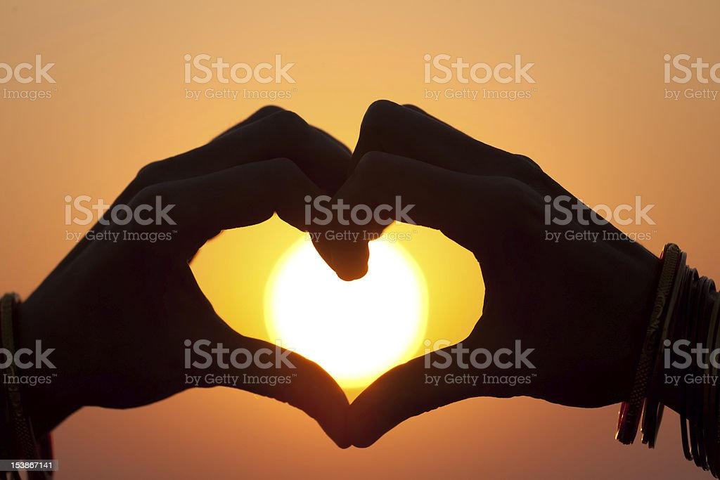fingerheart royalty-free stock photo