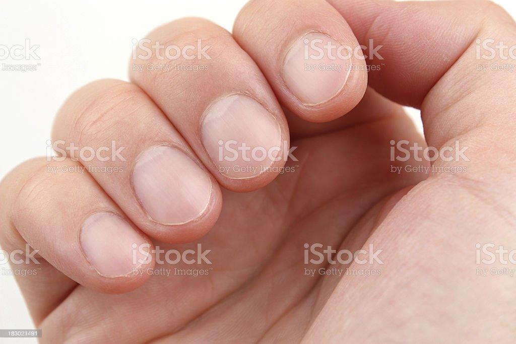 Fingernail royalty-free stock photo