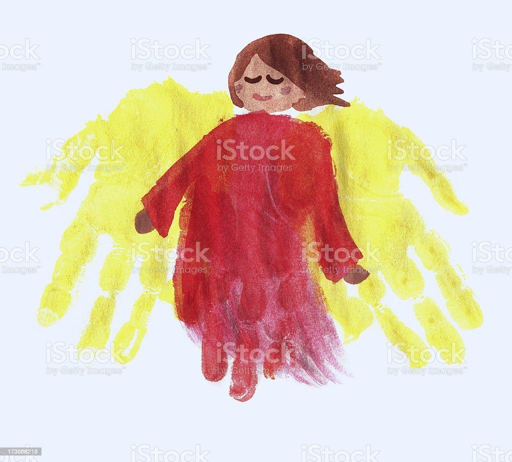 Fingerpainted angel stock photo