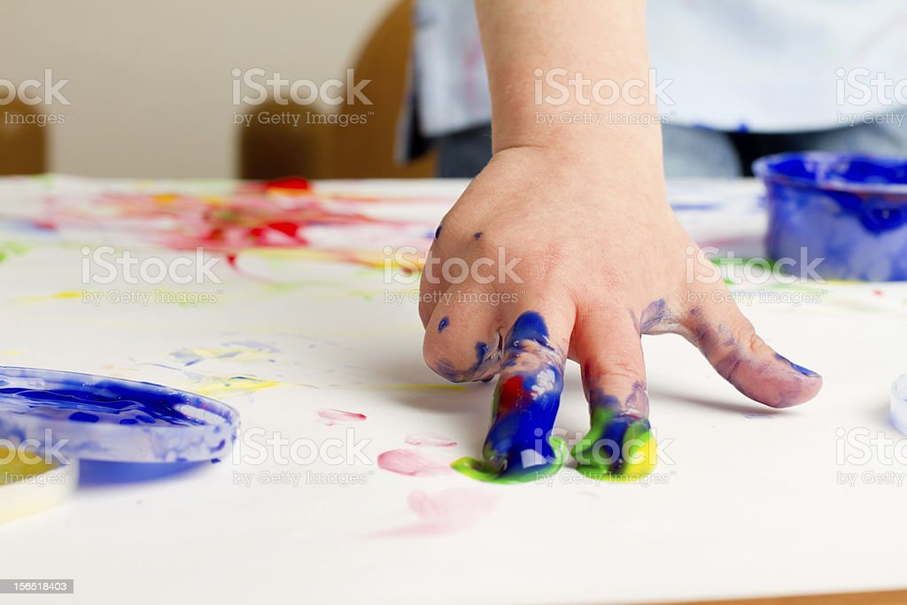 Fingerpainting royalty-free stock photo