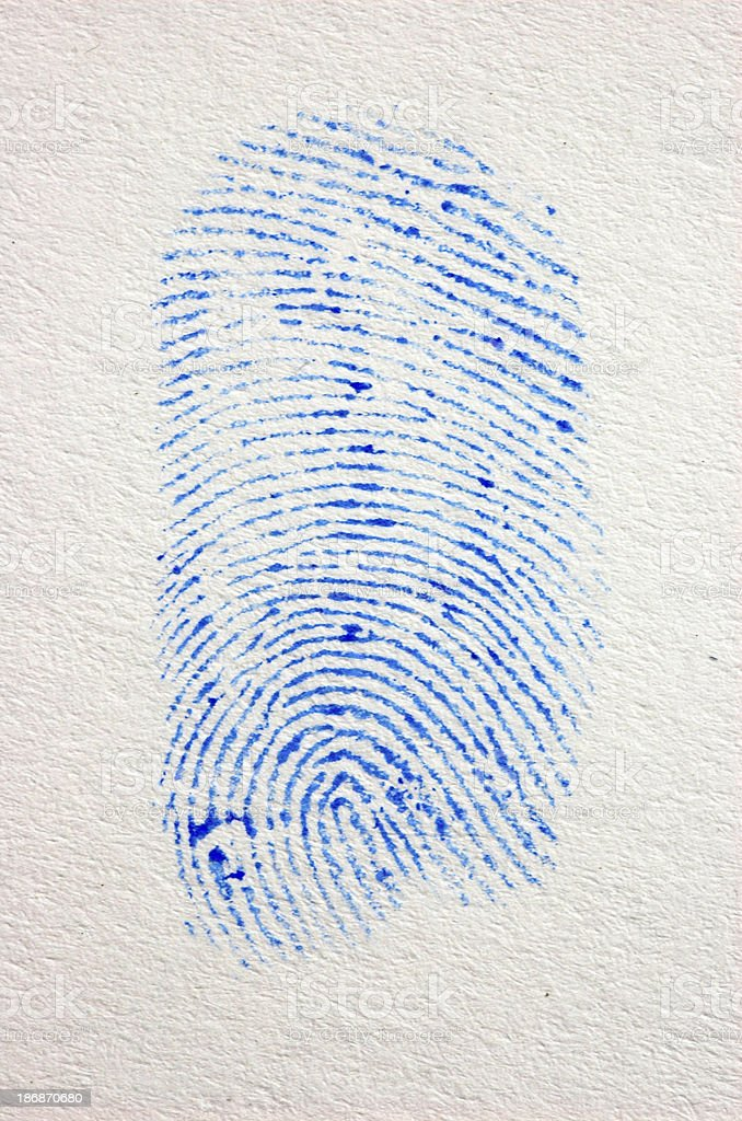 Fingerprint 3 stock photo