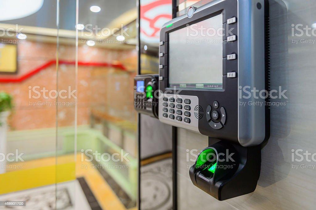 Fingerprint Access Control System stock photo