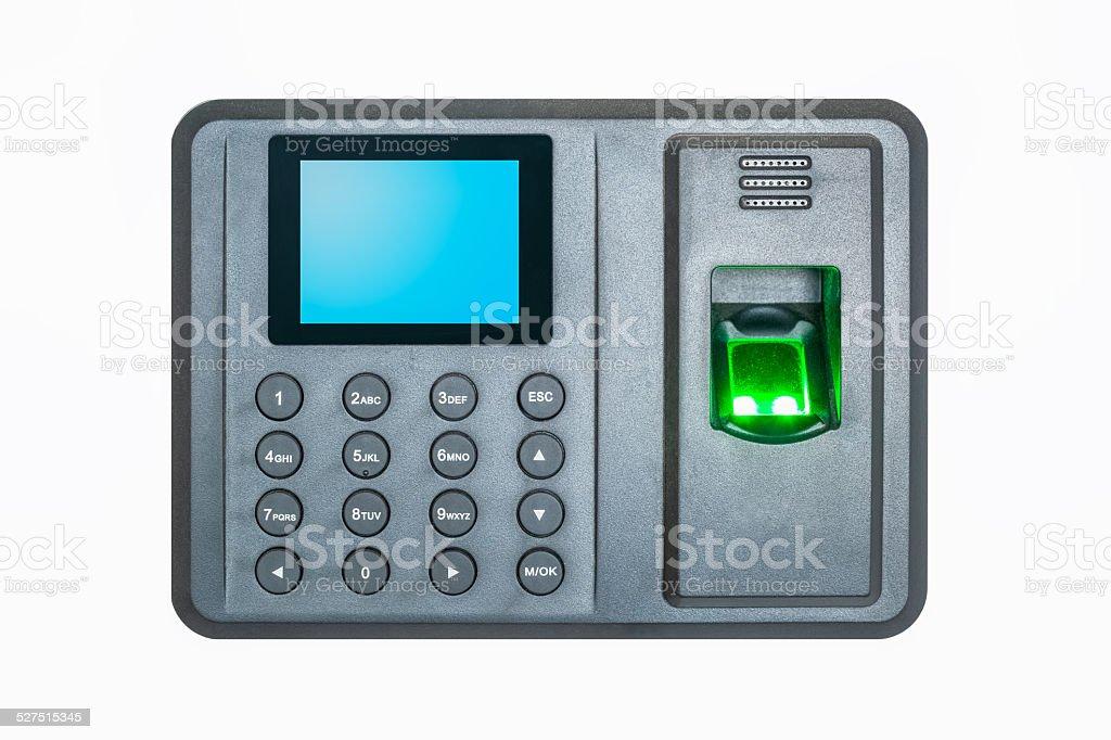 fingerprint attendance stock photo