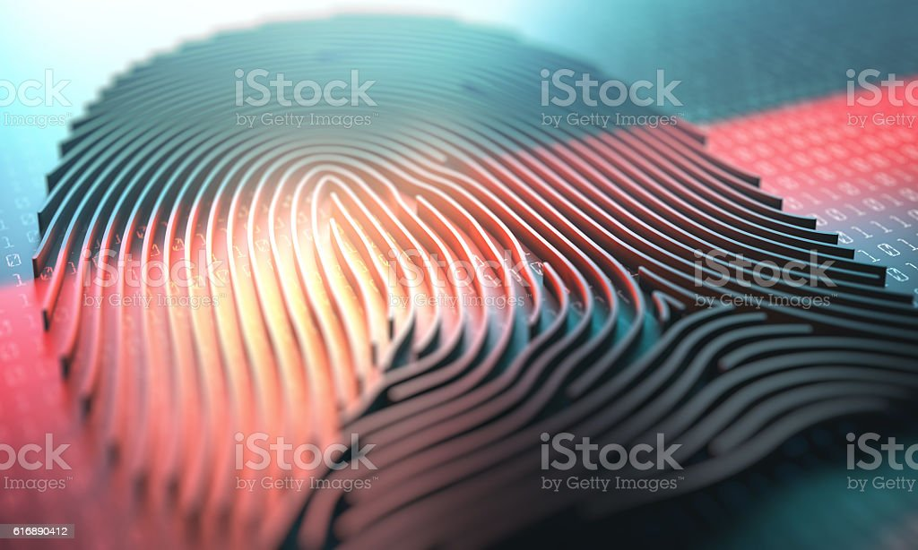 Fingerprint Biometric Reader stock photo