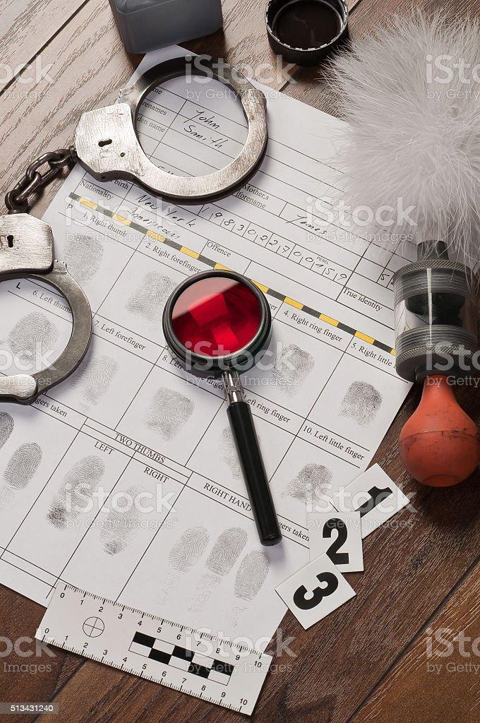 Fingerprint card stock photo