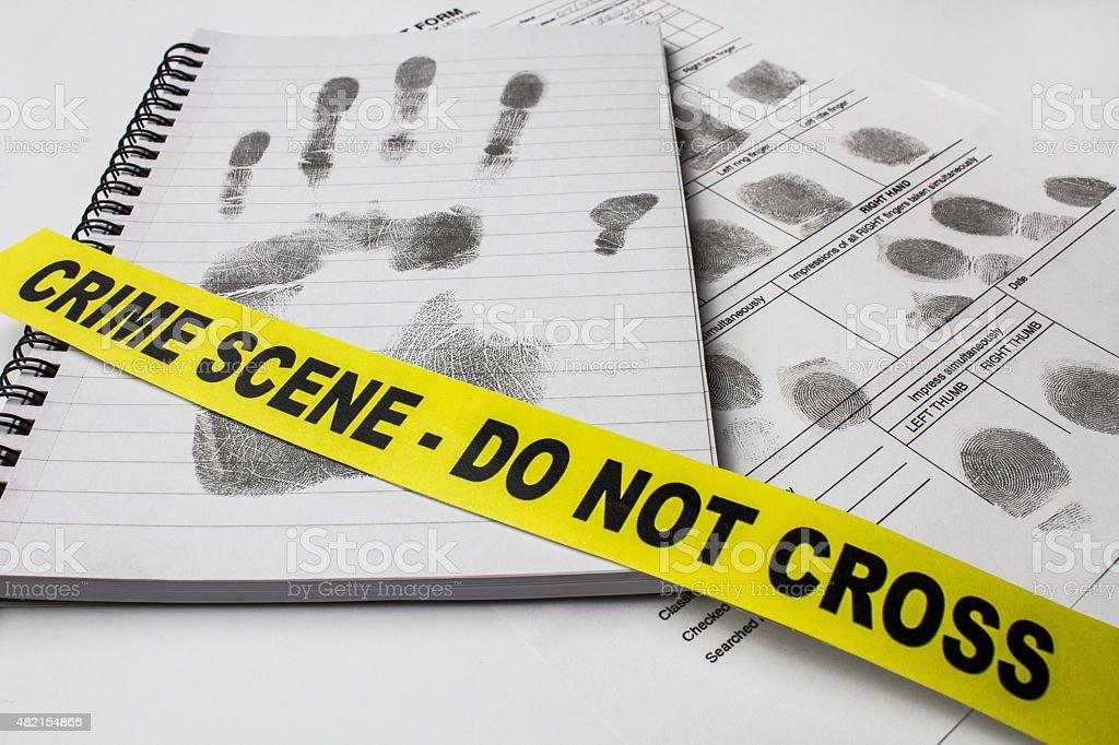 Fingerprint Examination stock photo