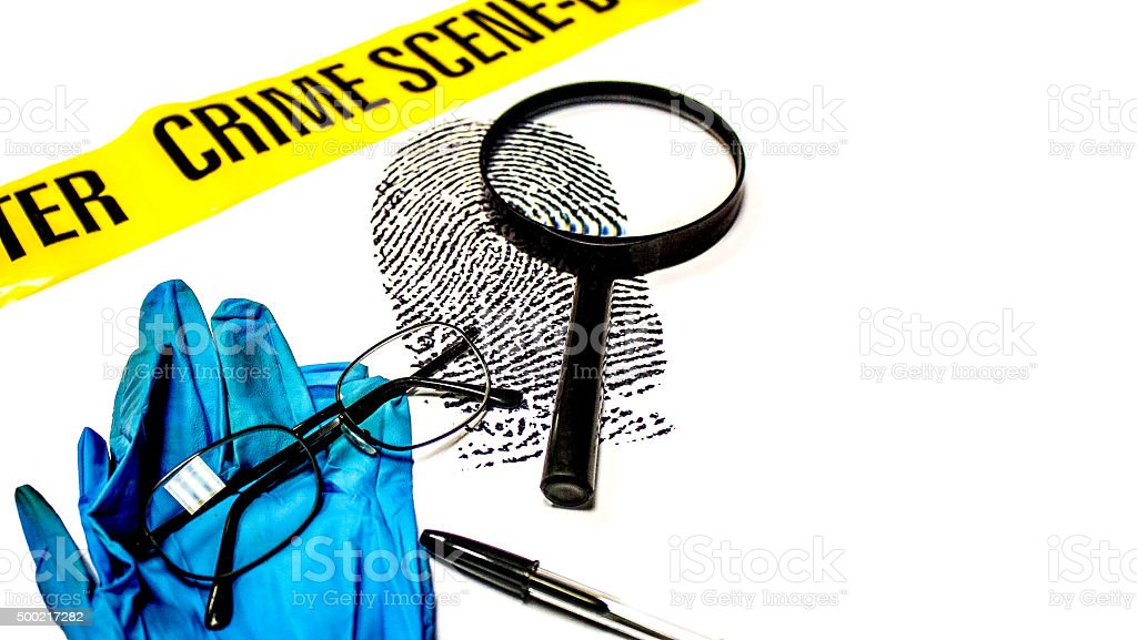 Fingerprint Examination stock photo