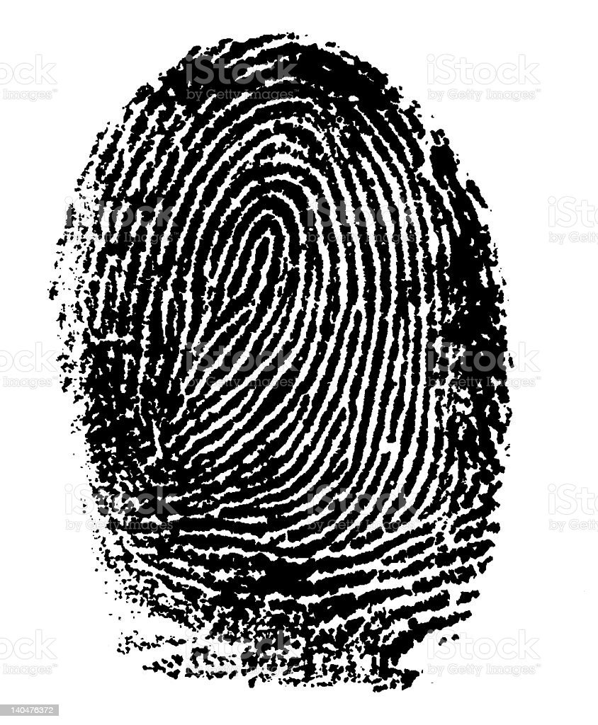 Fingerprint - Index Finger royalty-free stock photo