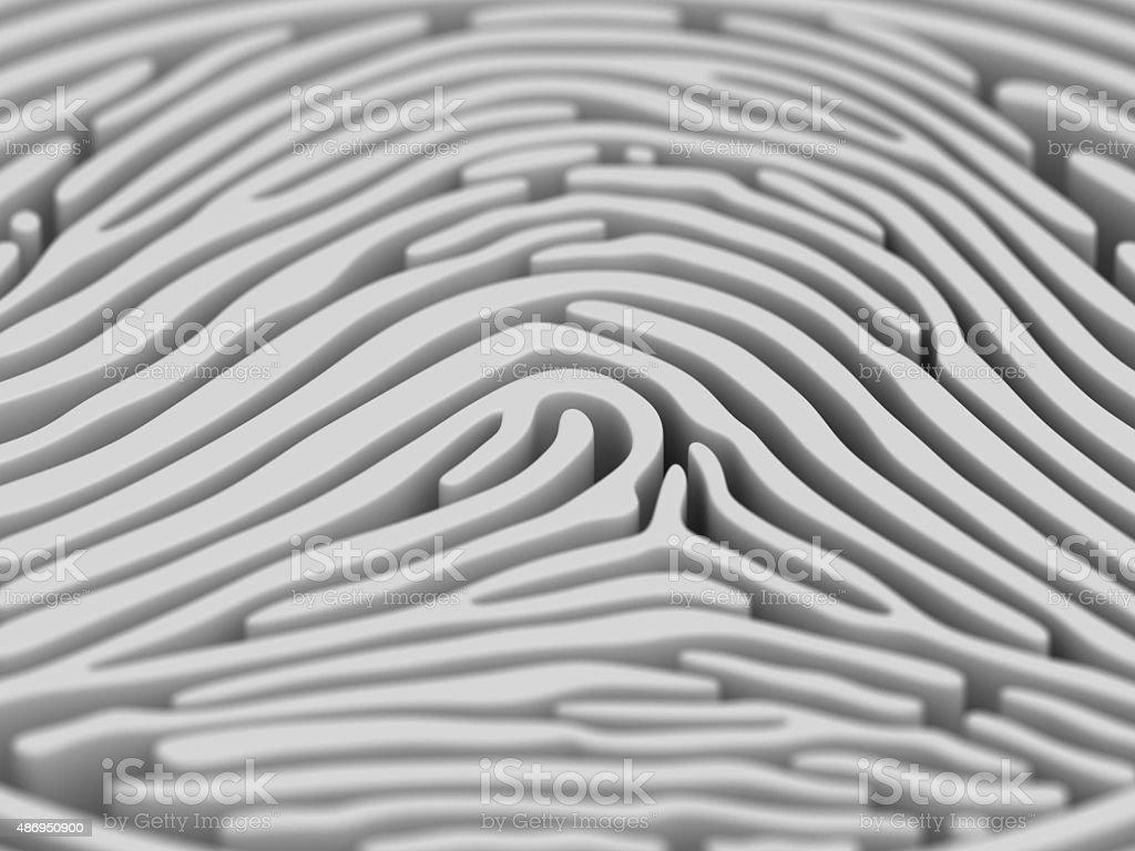 Fingerprint Maze stock photo