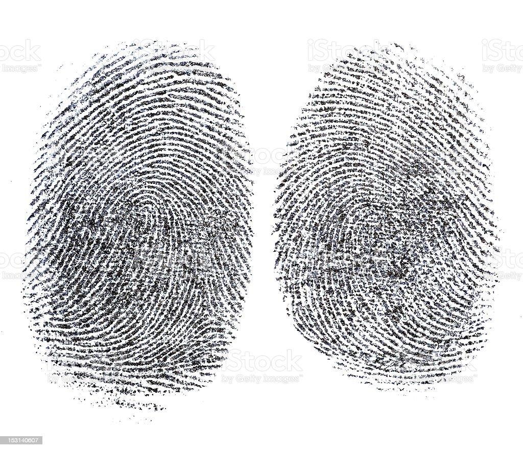 Fingerprint Mystery stock photo