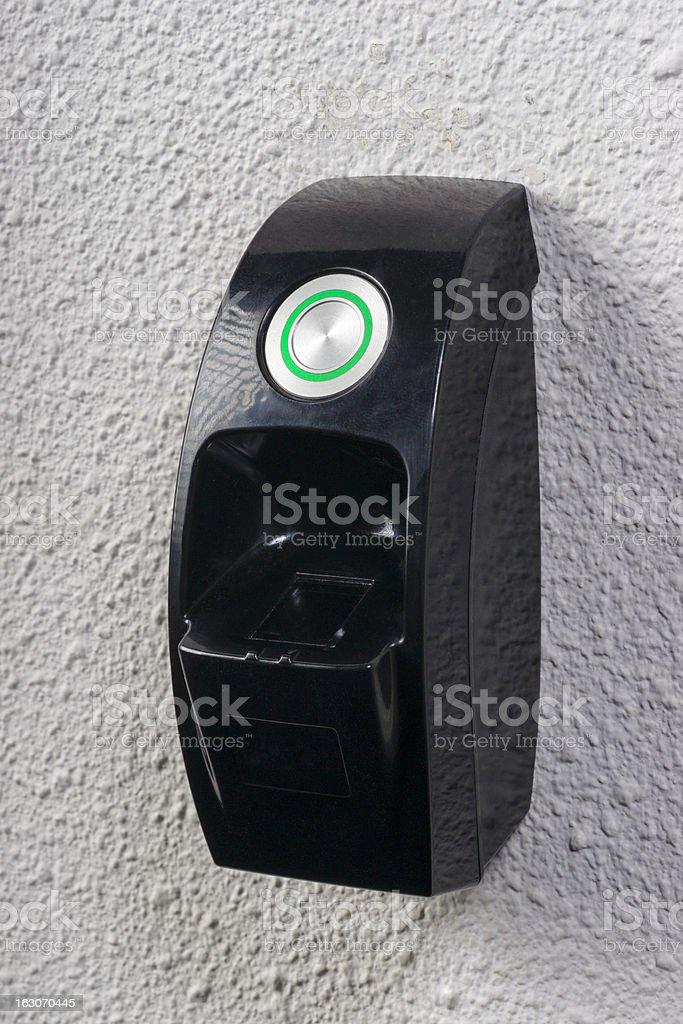 fingerprint needed to open the door royalty-free stock photo