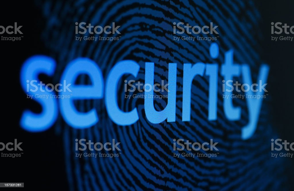 Fingerprint on a Computer Monitor royalty-free stock photo