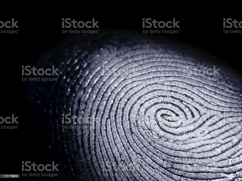 Fingerprint on Black royalty-free stock photo