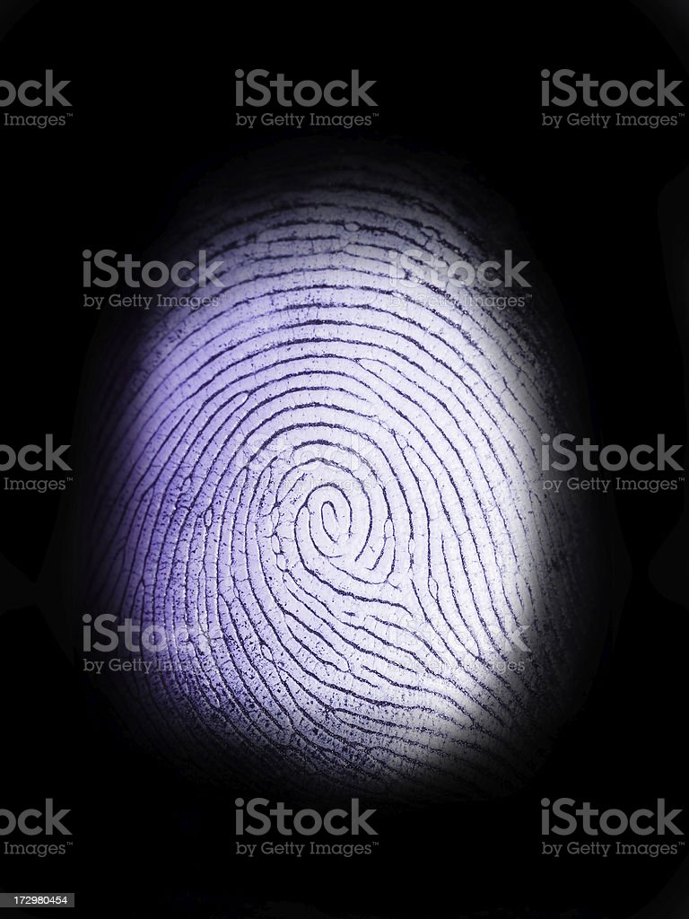 Fingerprint on Black stock photo