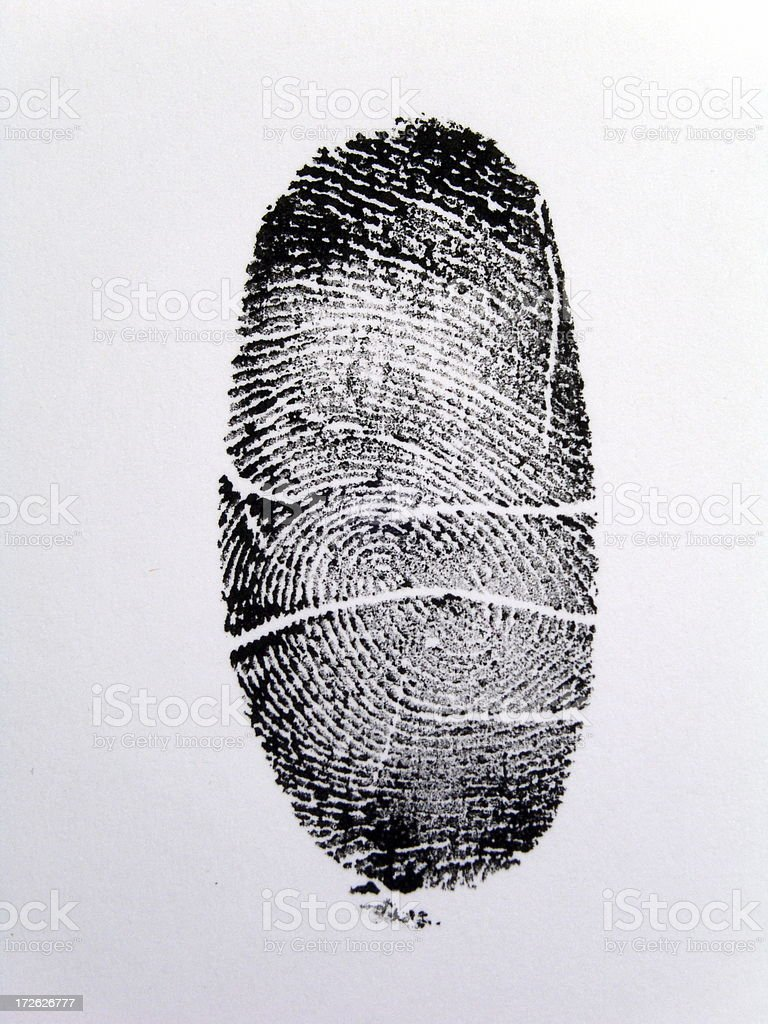 Fingerprint royalty-free stock photo