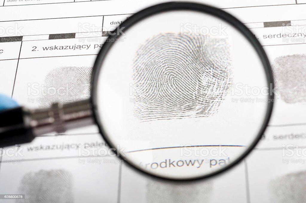 Fingerprint stock photo
