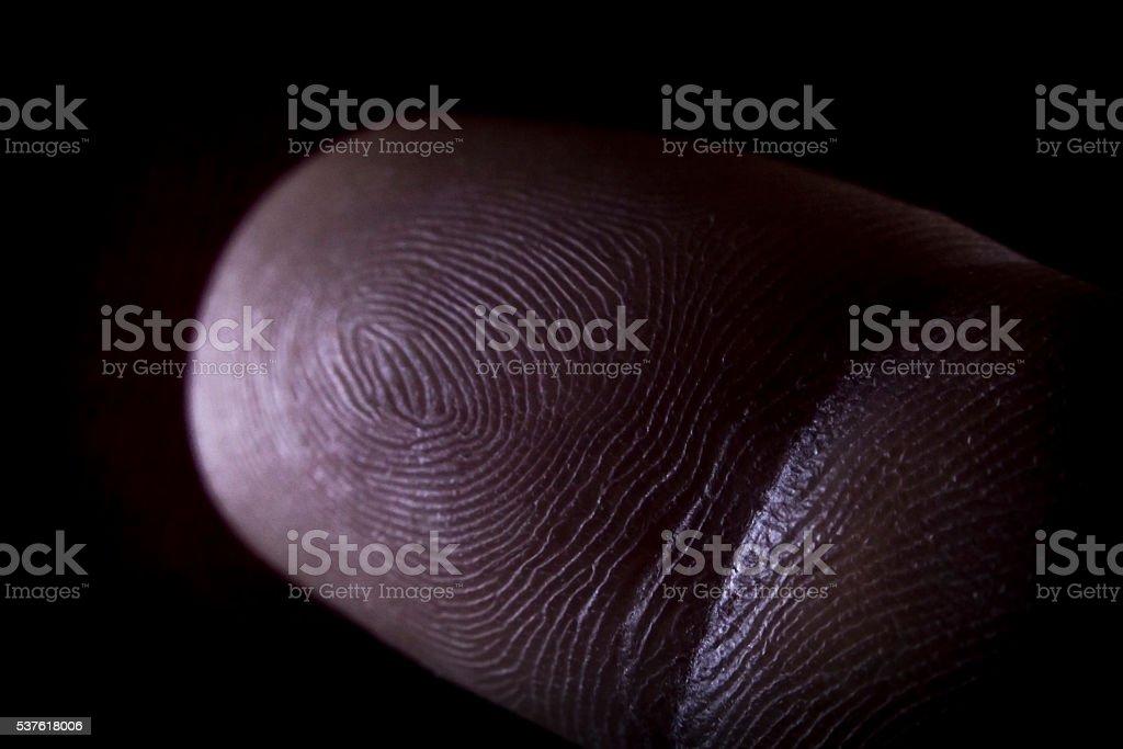 Fingerprint Pointer Finger stock photo