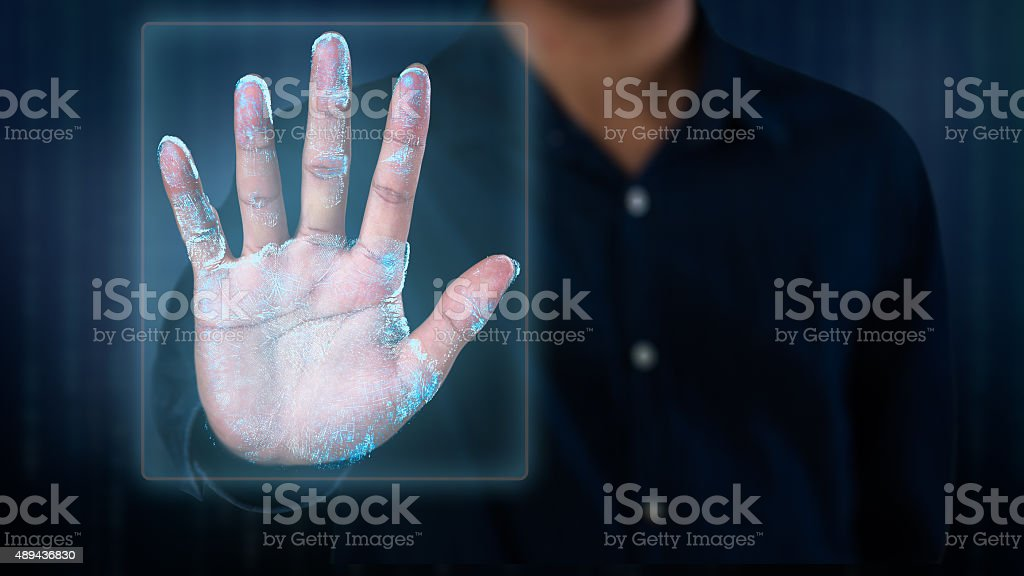 Fingerprint scan stock photo