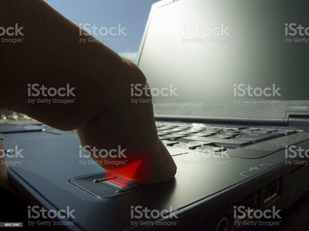 Fingerprint scan royalty-free stock photo