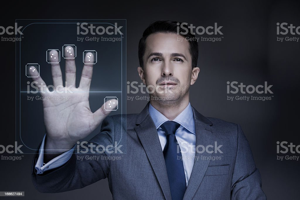 Fingerprint scanner royalty-free stock photo