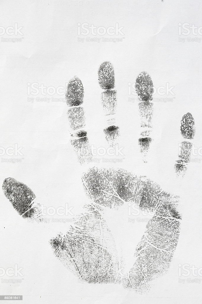 Fingerprint series stock photo