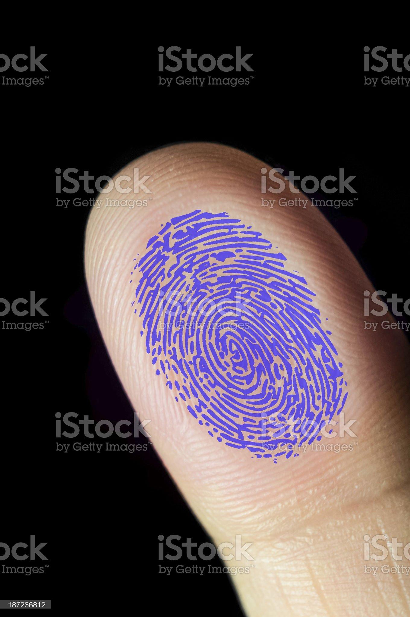 Fingerprint trace touching a glass royalty-free stock photo