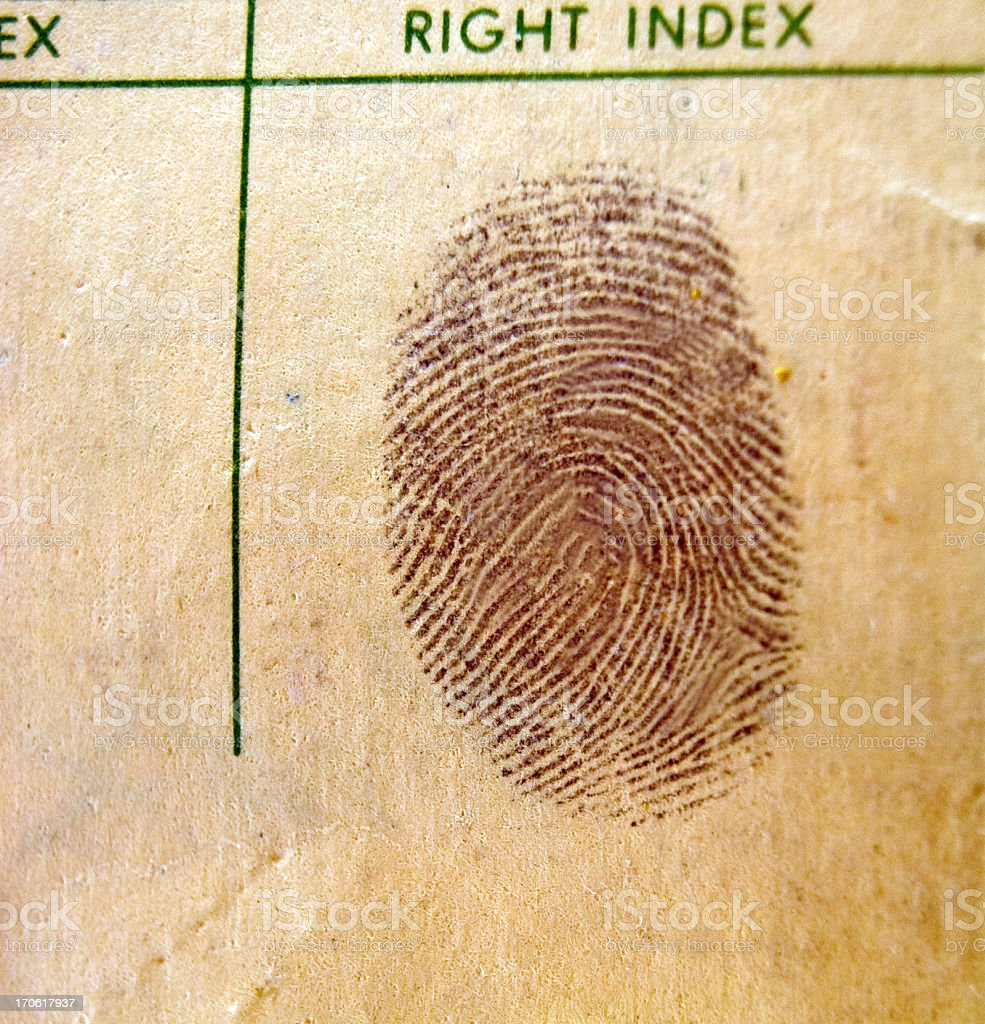 Fingerprint - Vintage royalty-free stock photo