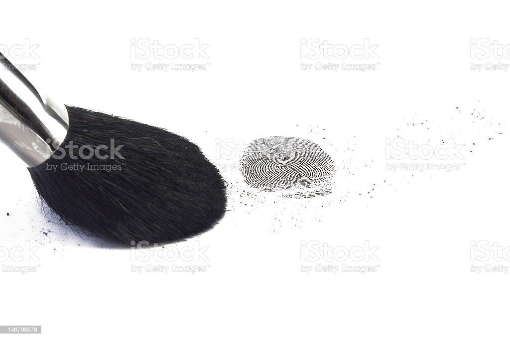 fingerprint with brush royalty-free stock photo