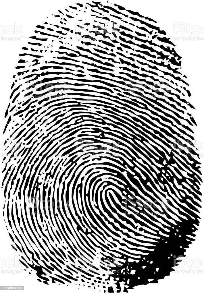FingerPrint XXXL stock photo