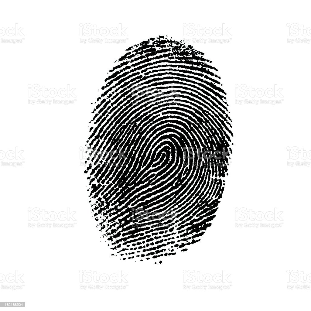 Fingerprint-4 stock photo