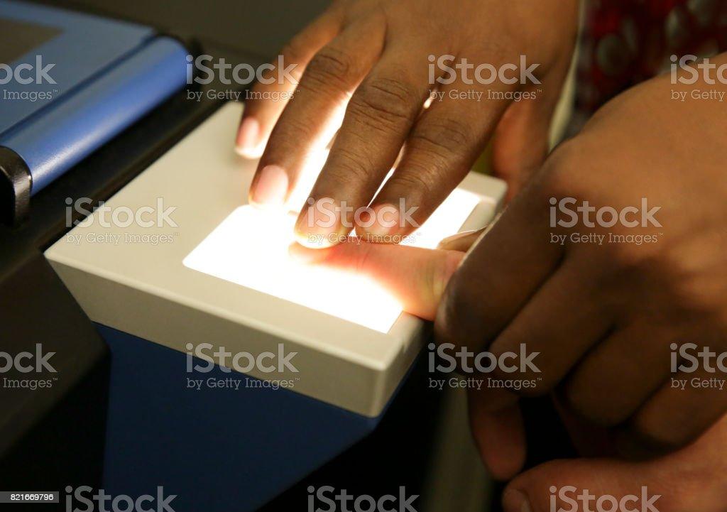 Fingerprinting Scan stock photo