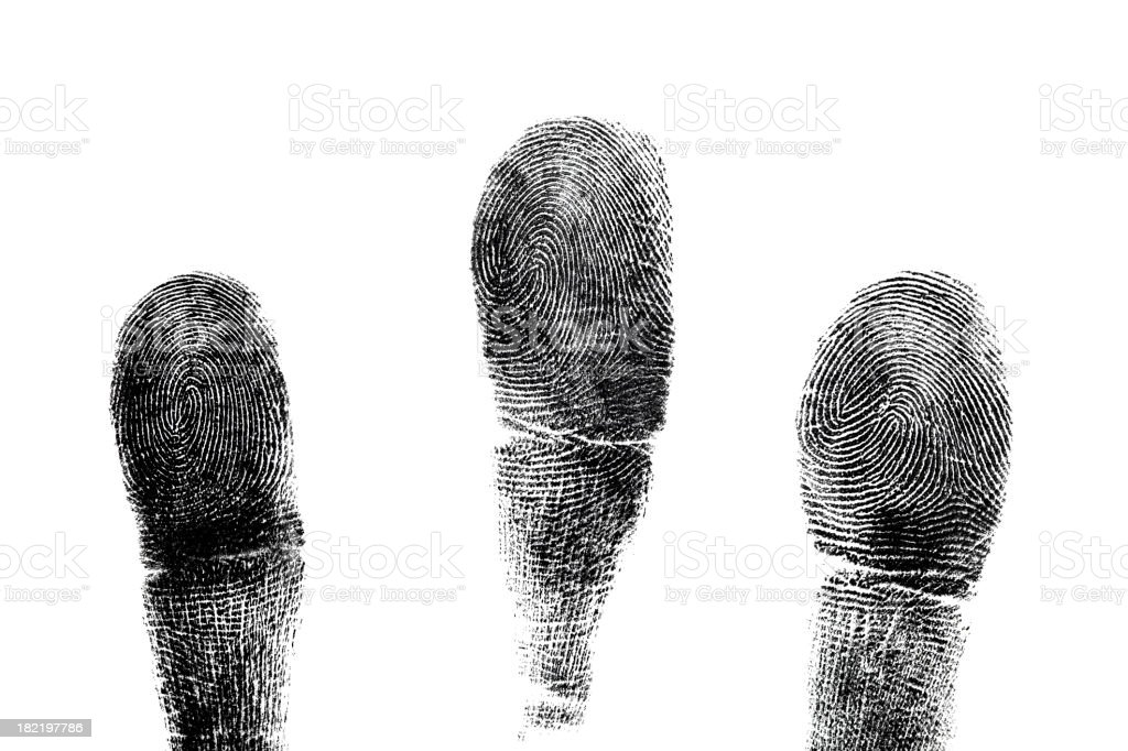 Fingerprints isolated on white background. royalty-free stock photo
