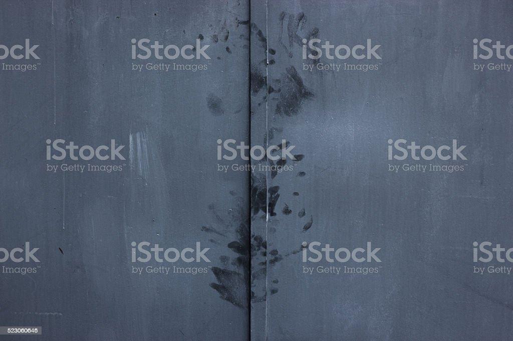 Fingerprints on the door. stock photo