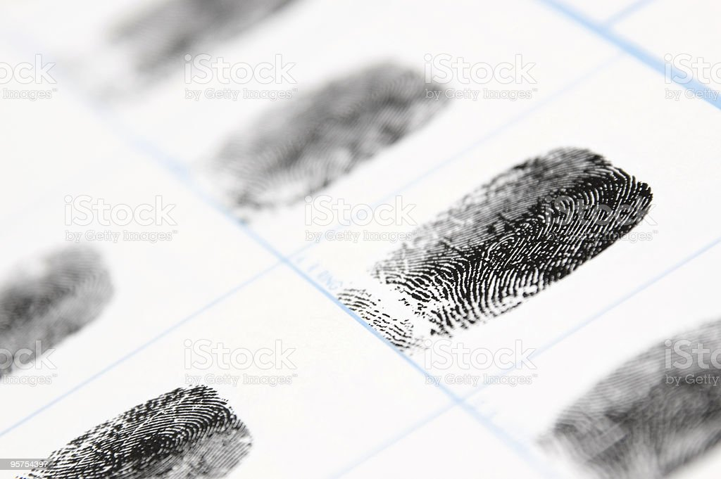 Fingerprints royalty-free stock photo