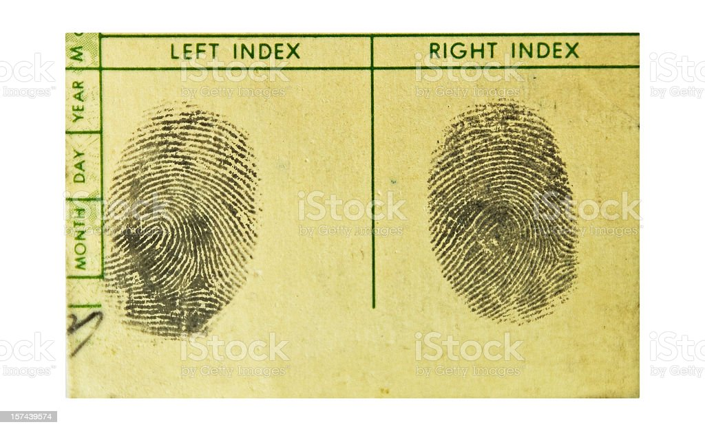Fingerprints.. the Real Thing! royalty-free stock photo