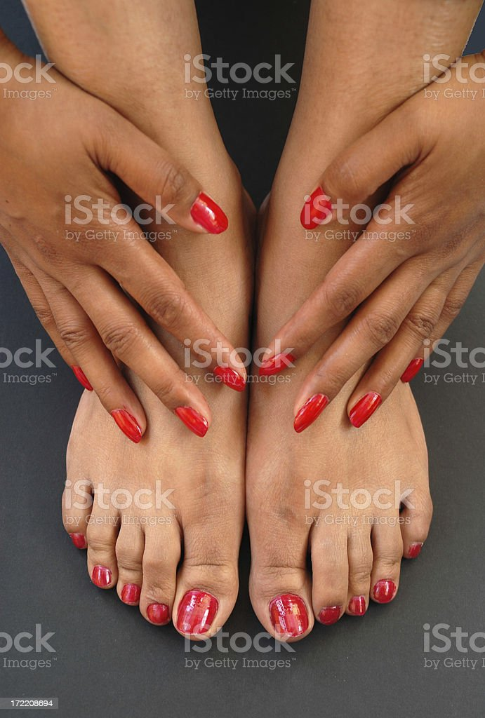 fingers and toes royalty-free stock photo