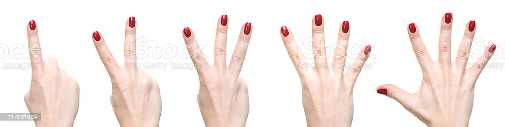 Fingers counting royalty-free stock photo