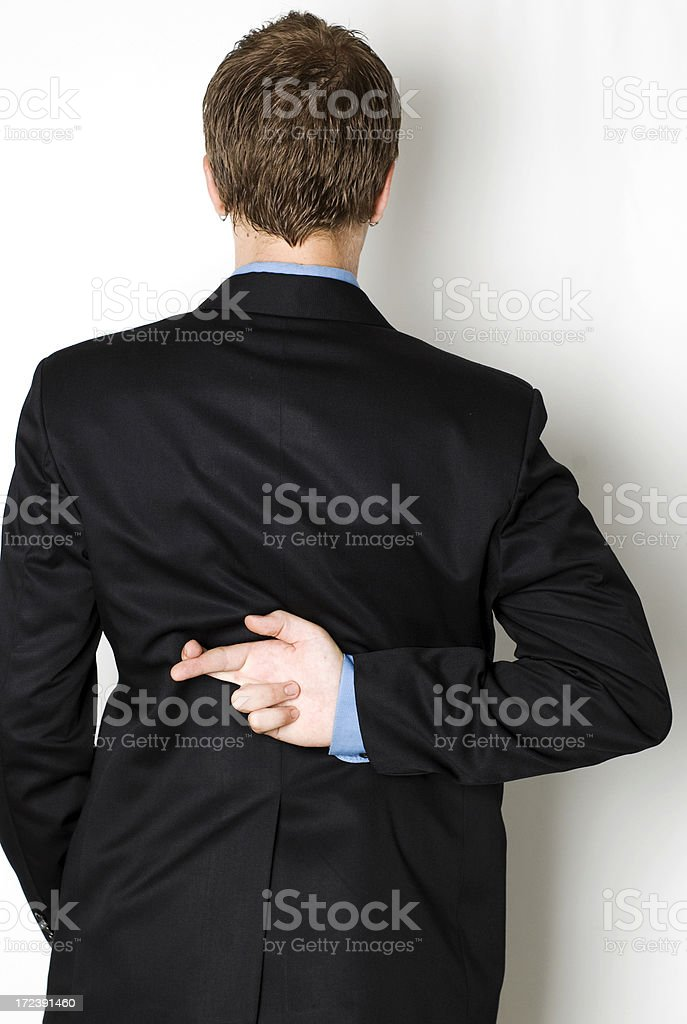 fingers crossed royalty-free stock photo