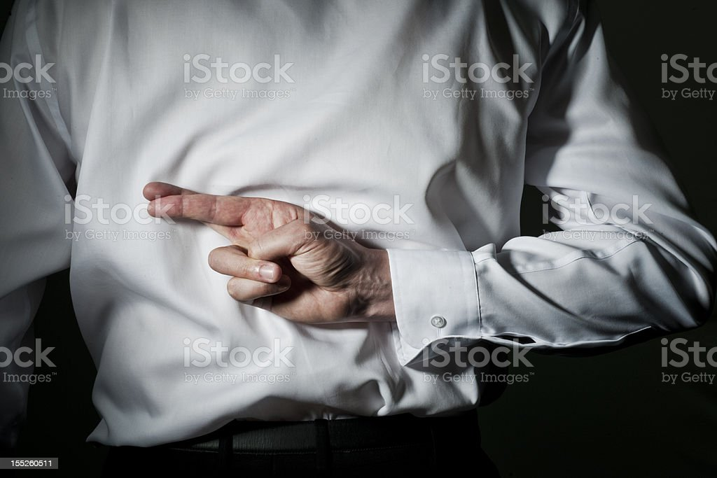 Fingers crossed - shirt royalty-free stock photo