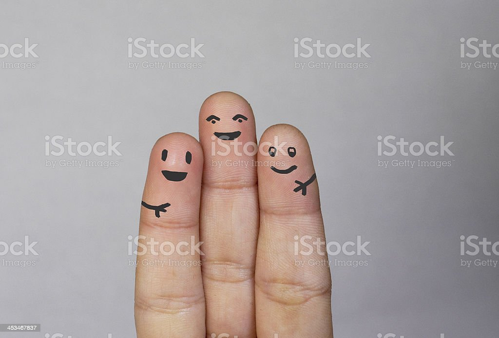 Fingers Family stock photo